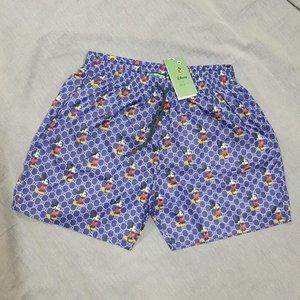 GUCCI MEN BLUE SWIM TRUNKS SIZE XXL